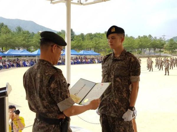 Raih Peringkat Tertinggi dalam Pelatihan Dasar Militer, Joo Won Dapat Promosi Jabatan!