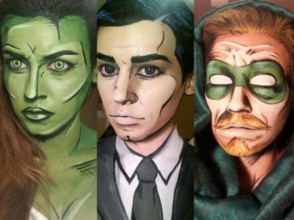 Keren, Make Up Artis Ini Bisa Ubah Orang Seperti Karakter Superhero dalam Buku Komik