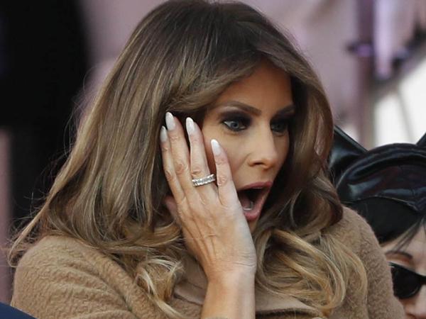 Reaksi Kocak Melania Trump Bertemu 'Kembaran Kecil' di Pesta Halloween White House