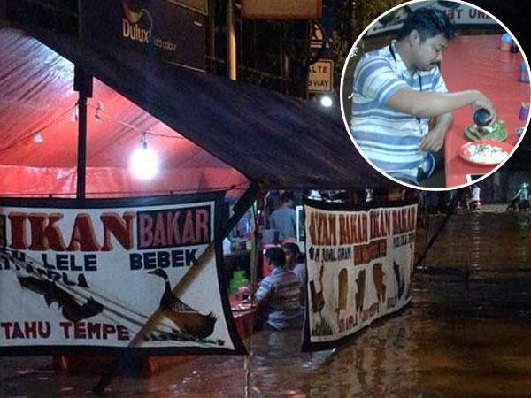 Bukan Editan, Begini Pengakuan Pria yang Viral Makan Lele Saat Banjir Sepinggang