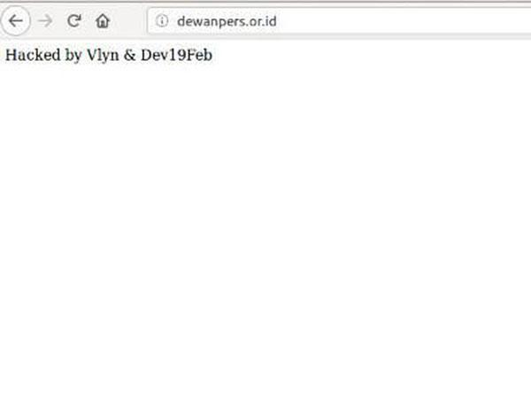 Situs Resmi Dewan Pers Di-Hack Tepat di Hari Pers Nasional