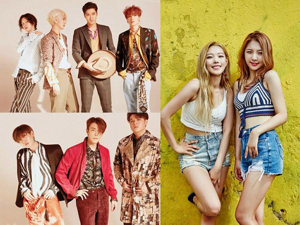 Super Junior Gaet Somin dan Jiwoo K.A.R.D di Promosi Lagu Comeback 'Lo Siento'