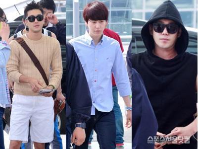 Yuk, Intip Para Member Super Junior di Bandara Sebelum Terbang ke Jakarta