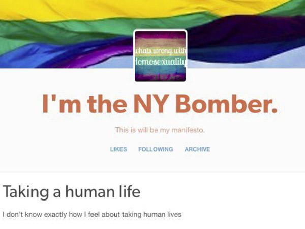 Unggah Pesan di Media Sosial, Pelaku Bom New York Seorang LGBT?