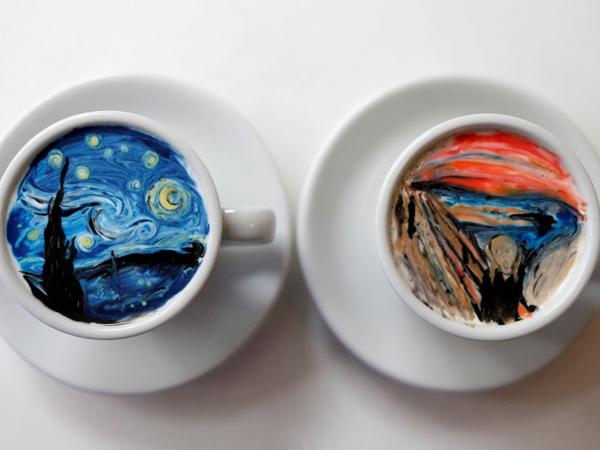 Cantiknya 'Lukisan Ulang' Latte Art Karya Barista Korea Ini