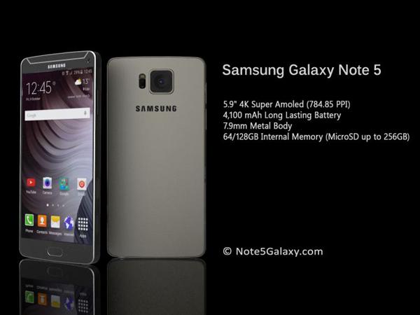 Dirumorkan Rilis September 2015, Ini Bocoran Spesifikasi Samsung GALAXY Note 5!