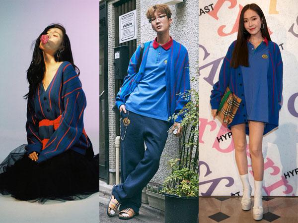 Gaya Berbeda Sunmi vs Seunghoon vs Jessica Pakai Striped Cardigan Burberry, Siapa Paling Stylish?