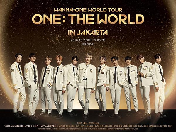 Inilah Daftar Harga Tiket Konser Wanna One di Indonesia, Mulai dari 1,1 Jutaan!