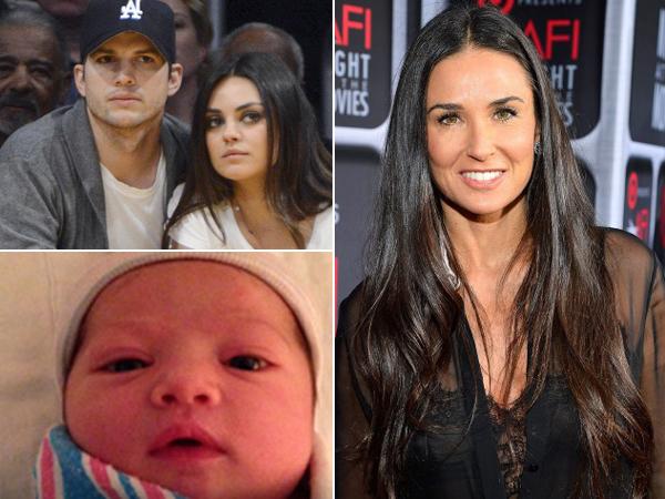 Demi Moore Hadir Di Upacara Pemberkatan Anak Ashton Kutcher dan Mila Kunis