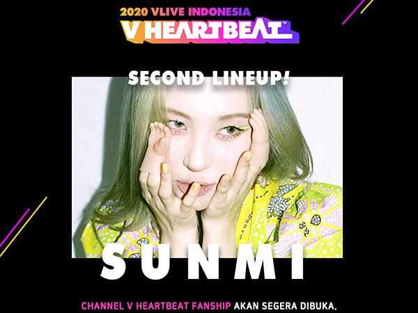 Sunmi Masuk Line-Up V HEARTBEAT Indonesia 2020