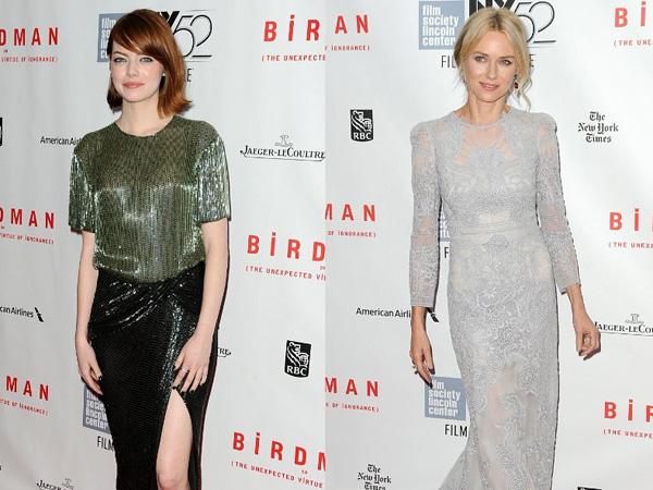 Wow, Emma Stone dan Naomi Watts Tampil Seksi dan Glamor di Acara 'New York Film Festival'!