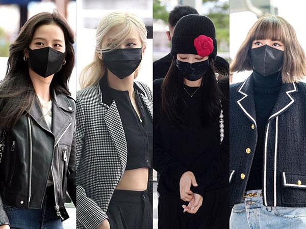Airport Fashion BLACKPINK Menuju Paris, Hitam Jadi Andalan