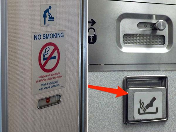 Alasan Tetap Ada Asbak Meski Dilarang Keras Merokok di Dalam Pesawat