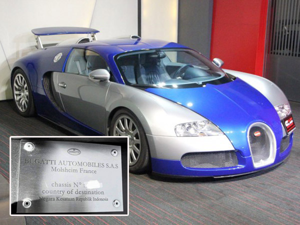 Hypercar Tercepat di Dunia Bugatti Veyron Ini Miliki Plakat Spesial untuk NKRI!