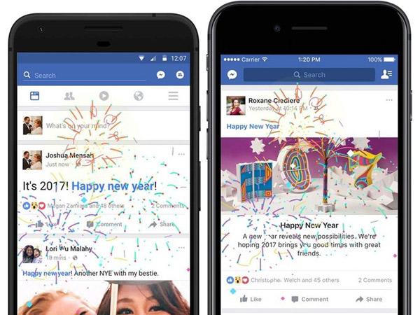 Buat Postingan Makin Meriah, Facebook Rilis Fitur Seru untuk Rayakan Tahun Baru 2017