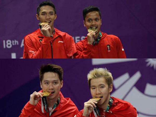 Benar untuk Tes Emas, Ini Lho Asal-usul Atlet Gigit Medali Seperti Jojo dan Kawan-kawan