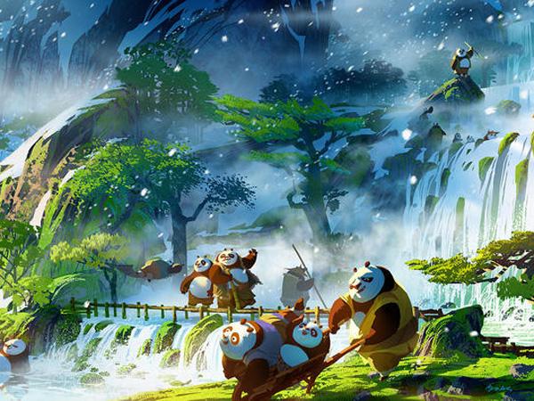 Keren! Concept Art 'Kung Fu Panda 3' Perlihatkan Indahnya Desa Para Panda!