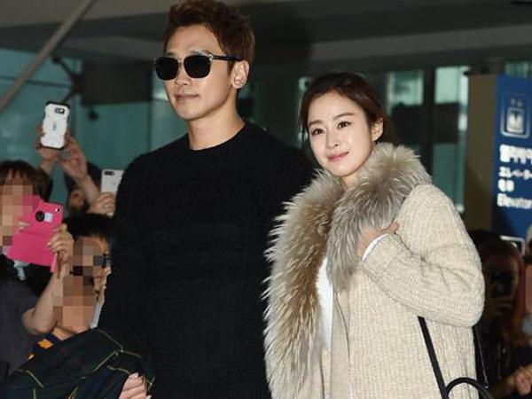 Pertama Tampil Bersama Di Publik, Mesranya Rain dan Kim Tae Hee Berangkat ke Bali