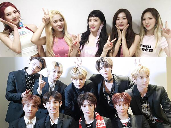 Red Velvet dan NCT 127 Kompak Lakukan 'Power Challenge' Untuk Dukung EXO