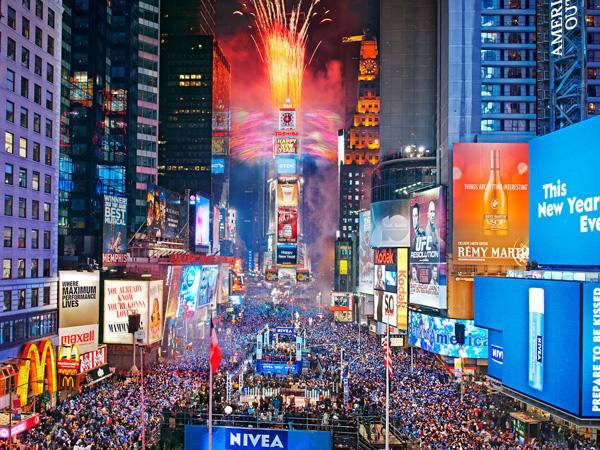 Times Square Akan Gelar Pesta Tahun Baru Secara Virtual