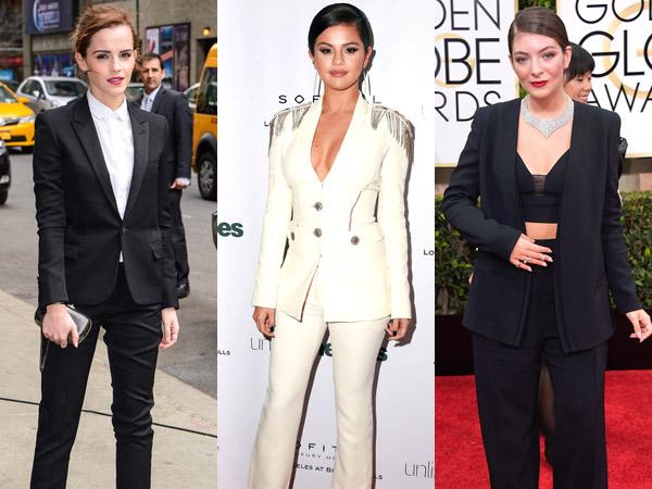 Angelina Jolie Hingga Emma Watson, Inilah Seleb Hollywood dengan Busana Pantsuit Terbaik