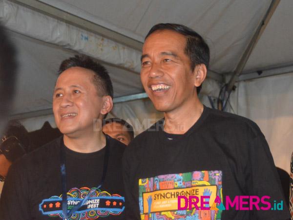 Momen-momen yang Mungkin Terlewat dari Kehadiran Jokowi di Synchronize Fest