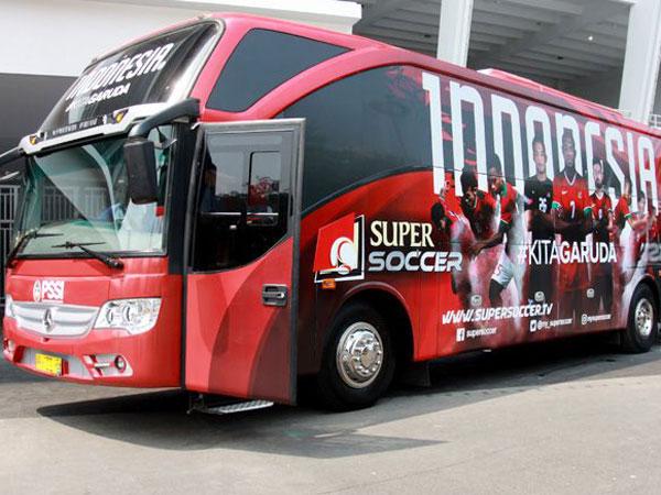 Ini Dia Wujud Bus Baru Timnas Sepak Bola Indonesia di Asian Games 2018!