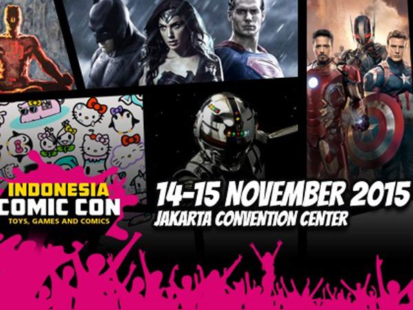 Indonesia Comic Con 2015 Siap Hadirkan Eksebitor Papan Atas Dunia