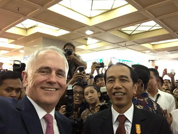 Diajak Presiden Jokowi Blusukan ke Tanah Abang, PM Australia Kegerahan