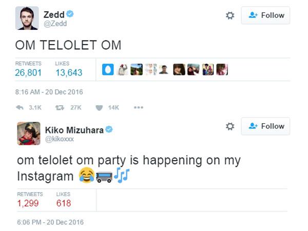 Jadi Viral, Zedd, Kiko Mizuhara Hingga Selebriti Dunia Lainnya Kena Demam 'Om Telolet Om'