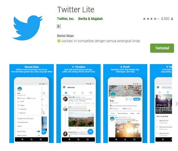 Twitter Lite Google Play Keunggulan Indonesia