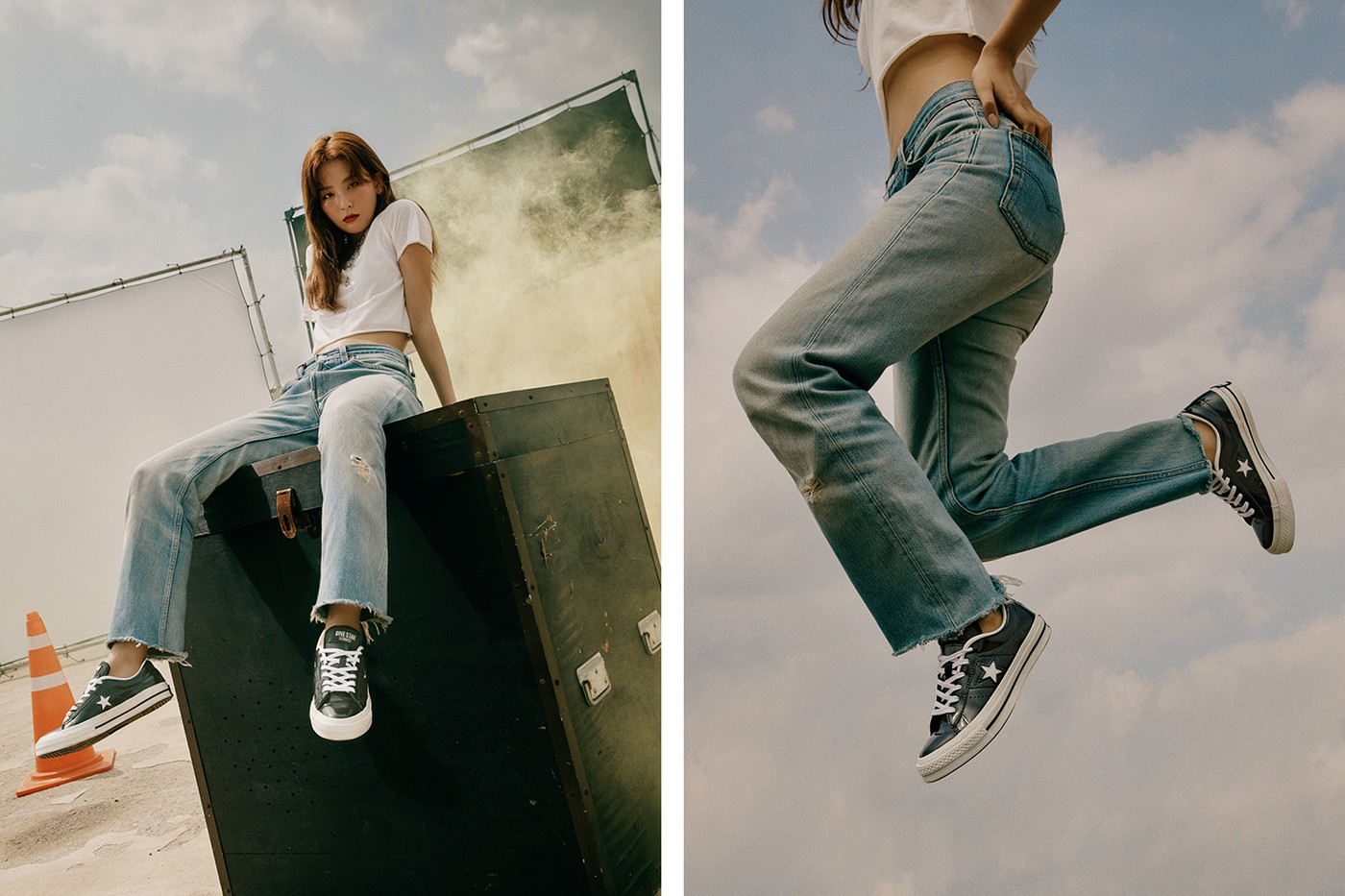 Intip Aksi Kece Dean dan Seulgi Red Velvet Jadi Model Koleksi Terbaru  Converse