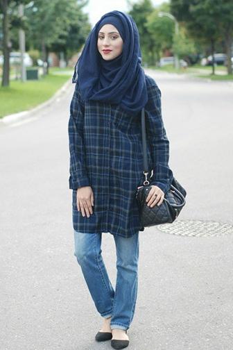 Inspirasi 5 Padu Padan Celana Jeans Untuk Hijabers Agar Tampil