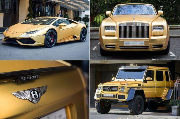 Heboh, WNI Pamer Empat Mobil Mewah Belapis Emas di London. Fakta atau Hoax?