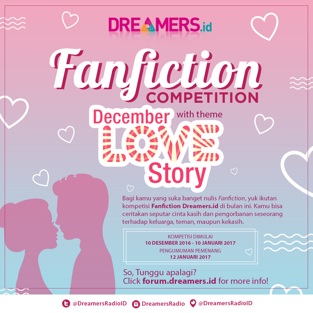 [ANNOUNCEMENT] Pemenang Fanfiction Competition 'December Love Story'!