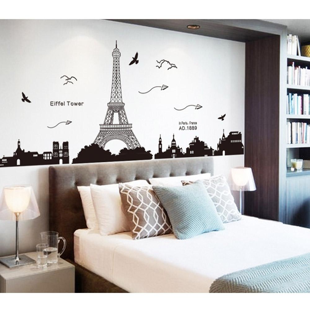 Toko Penjual Wallpaper Dinding Menara Eiffel