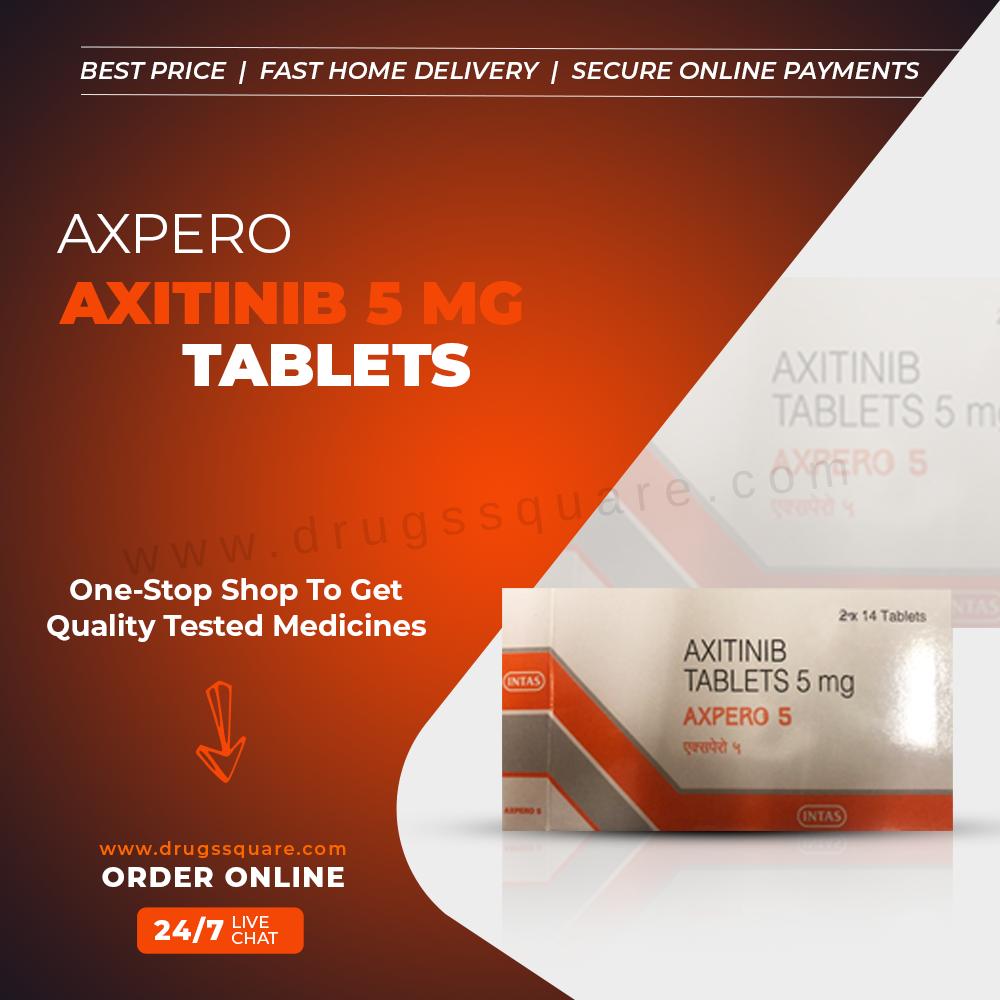 Buy Axpero Online | Intas Axitinib 5 mg Tablet