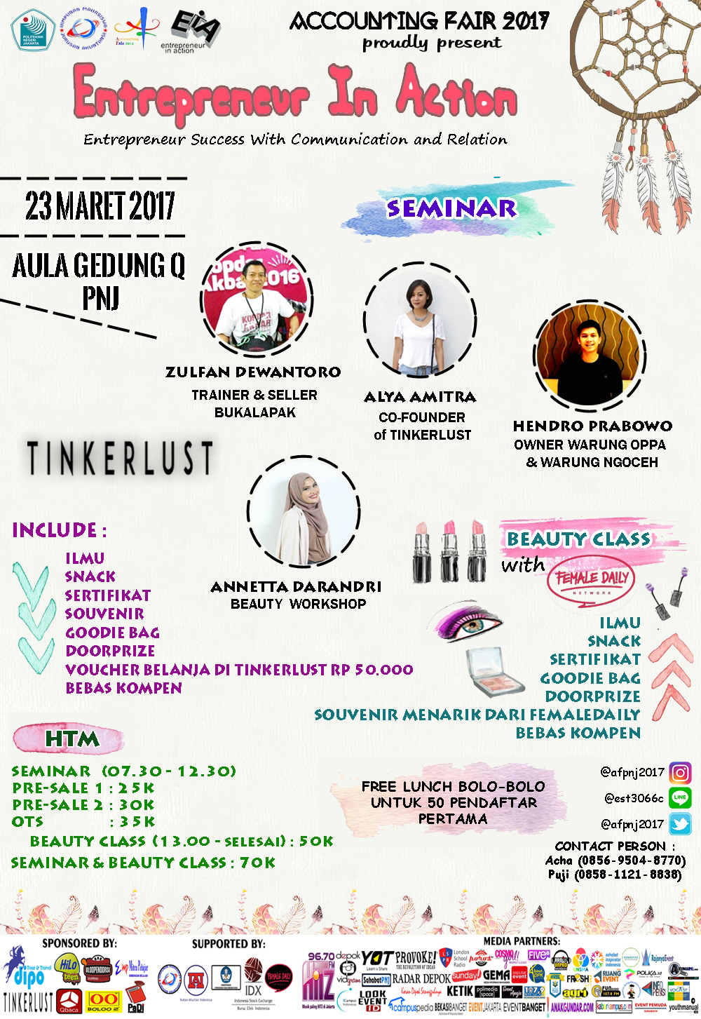 [UPCOMING EVENT] Seminar Kewirausahaan & Beauty Class